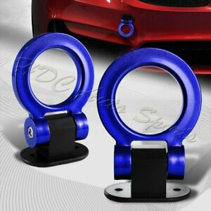 Universal Car Suv Blue Ring Track Racing Style Tow Hook Look Decoration Jdm