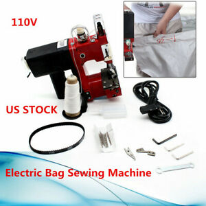 Industrial Sewing Machine 0 6mm Bag Closer Sack Closing Stitching 10 needle 110v