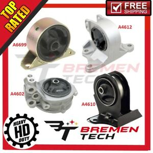 New Motor Trans Mount Set For 99 03 Mitsubishi Eclipse Galant 2 4l 4pcs