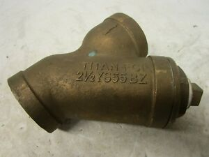 Titan Fci Ys55 Bz 2 1 2 Npt Threaded Bronze Y Wye Strainer 200 Mwp Astm B 62