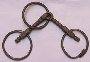 Indian Old Vintage Hand Crafted Iron Horse Bridle Bit Stirrups Br 507