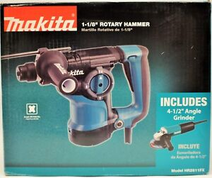 Makita Rotary Hammer Drill 1 1 8 In 7 Amp Corded 7 5 Amp 4 1 2 In Angle Grinder