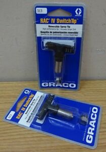 Lot Of 2 Graco 313 Rac Iv Switch Tip Reversible Spray Tip 221313 Nib