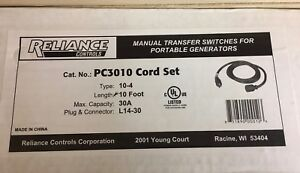 Reliance Controls Cat No Pc3010 Cord Set