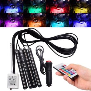 Car Interior Led Lighting Kit Under Dash Foot Well Seats Inside Glow Full Color