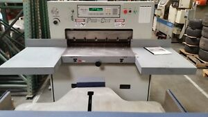 Procut Model 320 Mps Programmable Paper Cutter W Air Table