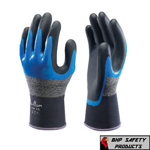 Showa 376r 3 4 Coated Nitrile Foam Ovr Nitrile Grip Mechanics Work Glove 12 Pr