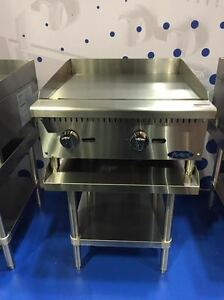 New 24 Flat Griddle Manual Ctl With Stainless Equipment Stand Package Deal Gas