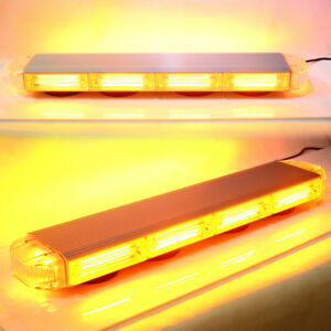 22 Amber Cob Emergency Warning Hazard Security Led Strobe Light Bar Off Road