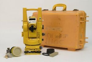 Topcon Gts 2 Edm Theodolite Surveying Total Station W Hard Case