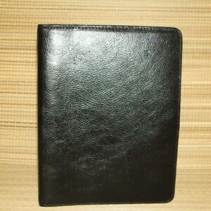 Franklin Covey Black Italian Leather Classic Planner Binder Textured Flex 3 4