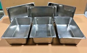 Commercial Steam Table Pans Vollrath Seco Ware Nsf Stainless Lot Of 6
