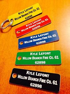 Fire Company Accountability Tags customized Set Of 30 Tags With Rings And Clips
