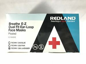 Redland Breath E z Earloop Face Mouth Mask 3 Ply Disposable Dental Medical Dust