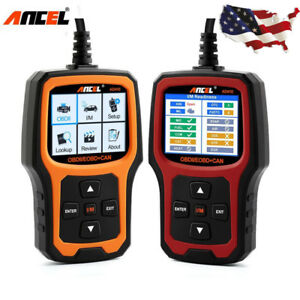 Auto Obd2 Scanner Tool I m Readiness Check Engine Light Coder Reader Ancel Ad410