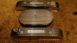 Buick 401 425 Nailhead Polished Offenhauser Finned Valve Covers Air Cleaner Cgi