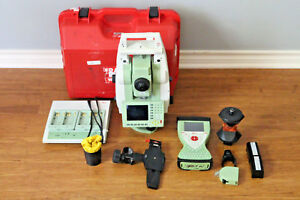 Leica Tcrp1203 R400 3 Robotic Survey Total Station W Cs15 Data Collector
