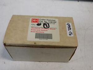Cutler hammer Qty 10 Terminal Block Fuse Switch End Sections C381ef Nib