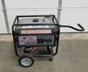 Refurbished 8750w Gas Powered Generator With Wheels Kit Dirty Hand Tools