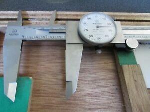 Mitutoyo 12 Inch Dial Caliper No 505 645 50 With Box Shock Proof 001