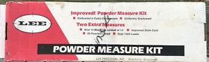 LEE Improved Powder Measure Kit 15 DippersScoopsSpoons #90100 With Caliper