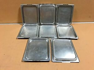 Lot Of 8 Vollrath Steam Table Pan Lids 75025 Nsf Commercial Stainless Steel Lids