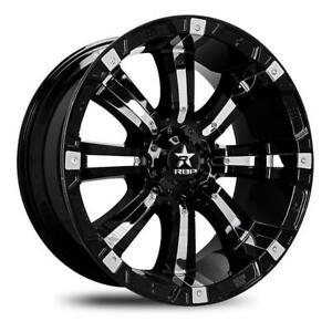 18 Inch 18x10 Rbp Wheels 94r Black W Chrome Wheel Rim 6x135 10