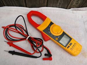 Fluke 336 True Rms Clamp Meter Ac Dc Current Resistance 600v 600a With Leads