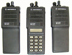3 Motorola Mts2000 800 Mhz Model I Iii Portable H37 Smartnet Systems Radios