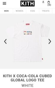 KITH x Coca Cola Box Logo Tee - Multi - L *IN HAND* Kith Coke Cubed Global White