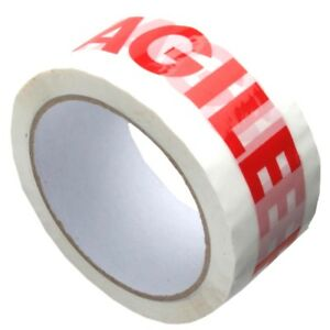 Fragile Parcel Tape 48mm X 66m Packing Sticky Selotape Rolls Fast Dispatch