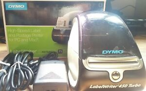 Dymo Labelwriter 450 Turbo Thermal Label postage barcode Printer W Box