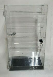 Revolving Locking Rotating 2 Sided Earrings Jewelry Display Case With 37 Pairs