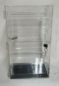 Revolving Locking Rotating 2 Sided Earrings Jewelry Display Case With 40 Pairs