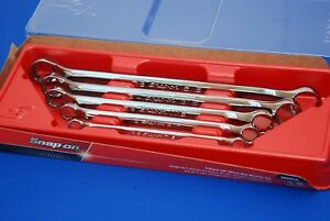 New Snap on 5 Piece 12 point Sae Flank Drive 10 Offset Box Wrench Set Xb605a