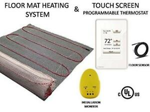 80 Sqft Warming Systems 120 V Electric Tile Radiant Floor Heating Mat With