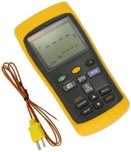 Fluke 54 2 Dual Input Digital Thermometer With Usb Recording 3 Aa Battery
