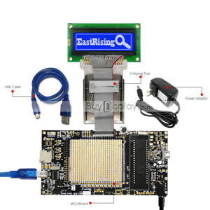 8051 Microcontroller Development Board Kit Usb Programmer For 128x32 Graphic Lcd