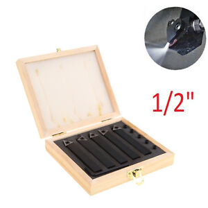 5pcs 1 2 Lathe Indexable Carbide Insert Turning Tooling Bit Holder Set