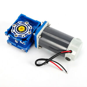 Dc 12 24v 90 300w Rv40 Worm Gear Motor Speed Adjustable Cw ccw With Self locking