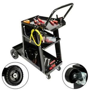 Welder Welding Cart Plasma Cutter Mig Tig Arc Universal Storage For Tanks Us