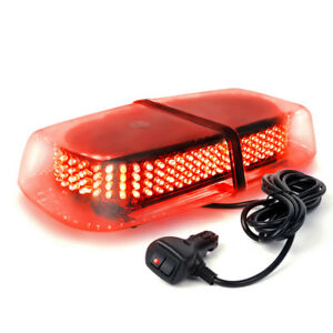 Xprite 240 Led Patrol Plow Utility Emergency Truck Roof Top Led Strobe Light Red