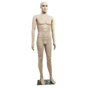 New Male Full Body Realistic Mannequin Makeup Display Head Turns Manikin W base