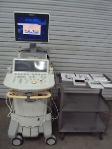 Philips Ie33 Diagnostic Ultrasound System Cart X3 1 S5 1 L8 4 Transducer Probes