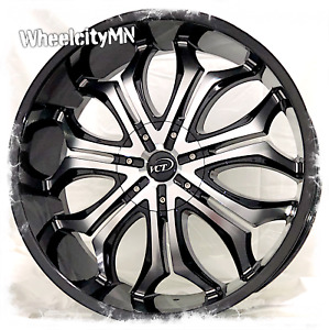 22 Inch Gloss Black Vct Godfather Wheels Fits Ford F150 Lincoln Navigator 6x135