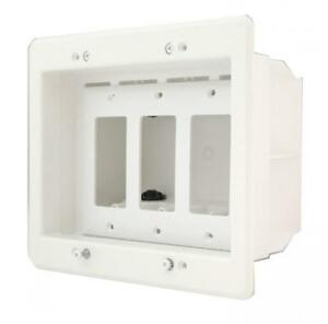 Arlington Dvfr3w 1 Recessed Electrical Outlet Mounting Box With Paintable