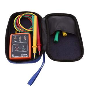 Sm852b 3 Phase Sequence Rotation Tester Led Indicator Detector Checker Meter