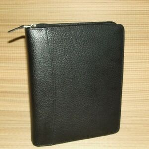 Franklin Covey Classic Black Pebbled Leather Planner 1 25 Rings Textured