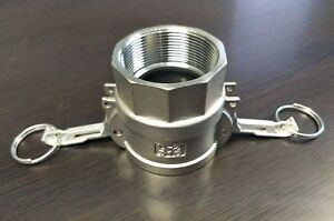 6 Inch Camlock Fitting Type D 316 Stainless Steel Female Camlock X Female Npt