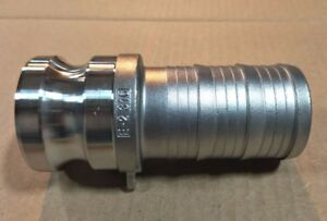 6 Type 600e Stainless Steel 316 Male Camlock X Hose Barb